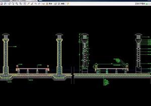 景观灯柱设计cad剖面图