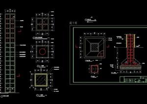 详细的完整景观灯柱cad施工图