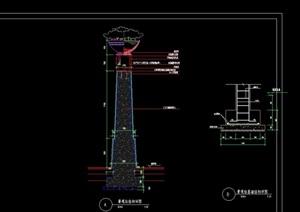现代景观柱设计cad施工图