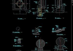 两个详细的景观灯柱设计cad施工图