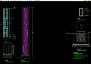 详细景观灯柱设计cad施工图
