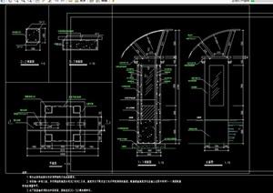 景观灯柱完整设计cad平立剖面图