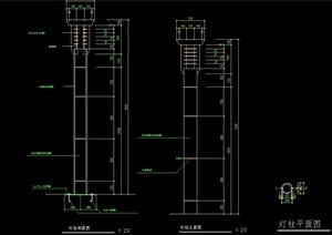 景观灯柱完整详细设计cad施工图