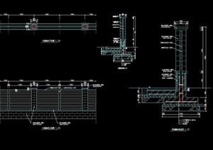 详细的小区围墙栏杆cad施工图