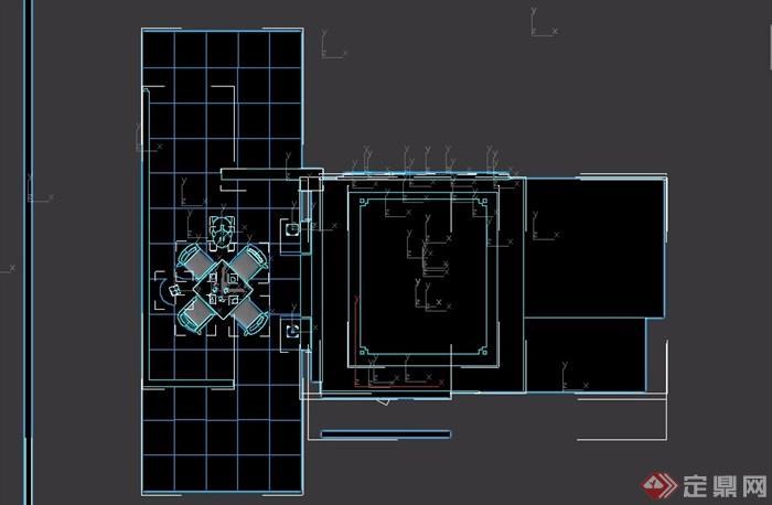 卧室及阳台素材设计3d模型