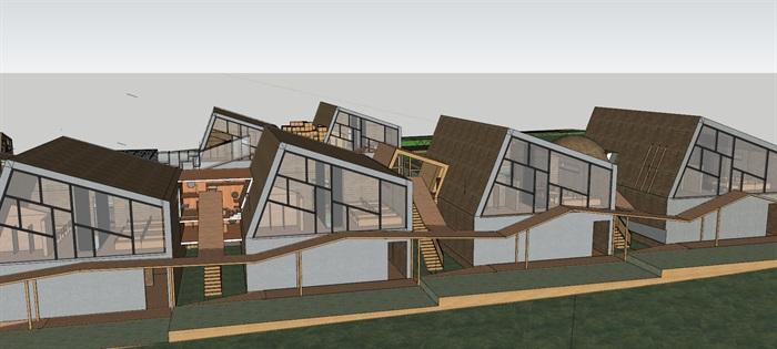 现代创意连续折板三角坡屋顶详细班级室内空间布置六班幼儿园托儿所图片