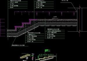详细的精致台阶设计cad施工图