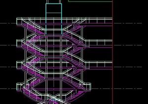 室内螺旋式楼梯设计图纸