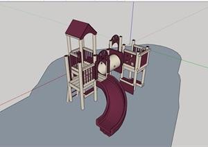 园林景观欧式游乐设施素材设计SU(草图大师)模型
