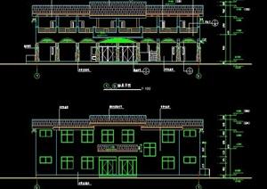 现代风格管理处建筑设计图纸