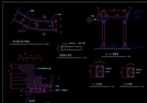 欧式风格廊架设计cad施工图