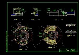 园林景观休闲廊设计cad施工图