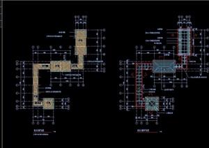 联系长廊及亭子组合设计cad施工图