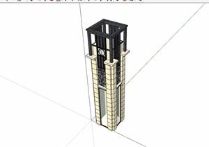新古典风格详细的景观柱素材cad施工图
