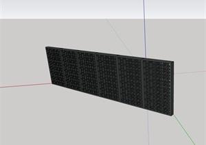 详细的经典完整的景墙素材设计SU(草图大师)模型