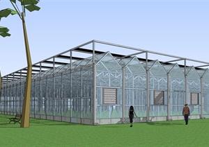 农业建筑温室大棚种植大棚SU(草图大师)