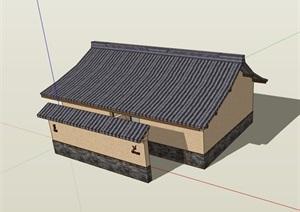 中式详细的单层完整的厕所设计SU(草图大师)模型