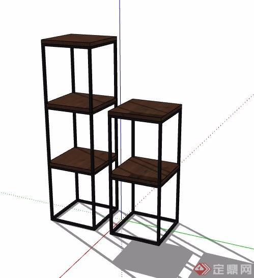 四款现代工业风座椅凳子家具素材su模型