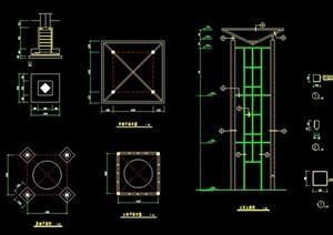 路灯灯柱施工图
