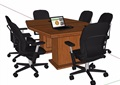 六人座会议桌椅素材su模型