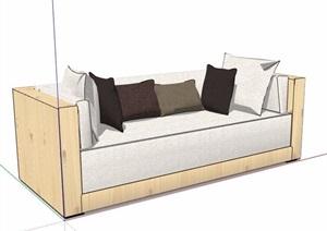 单人沙发及长形沙发SU(草图大师)模型