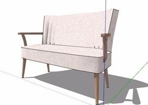 单人沙发椅及双人沙发SU(草图大师)模型