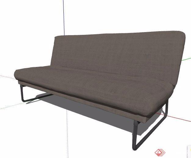 两款多人沙发家具素材su模型