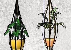 5组盆栽绿化植物素材SU(草图大师)模型