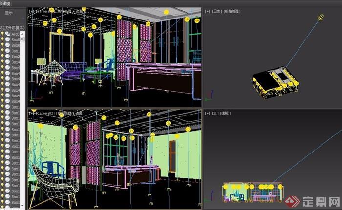 某现代总经理办公室设计3d模型