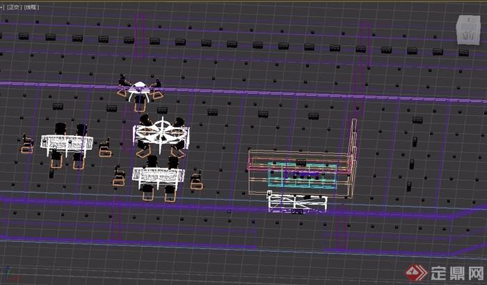 某整体简单的办公室设计3d模型