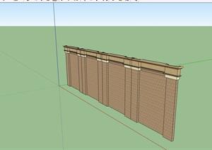园林景观围墙素材设计SU(草图大师)模型