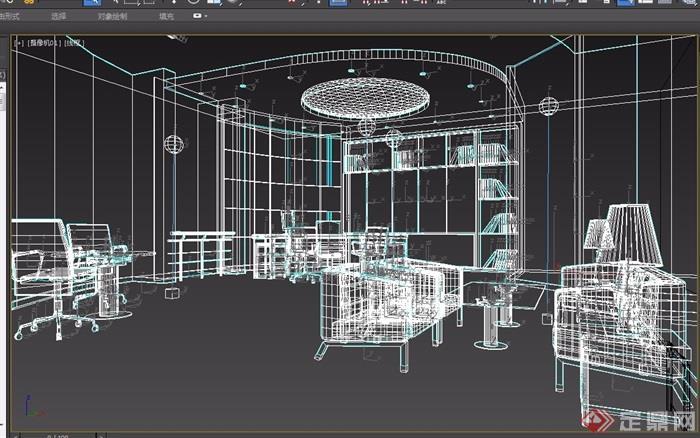 某整体经理办公室3d模型