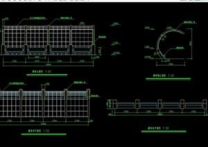 完整详细的廊架素材cad施工图