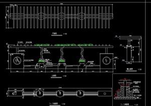 现代长廊花架完整设计cad施工图