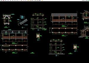 某中式详细的长廊设计cad施工图