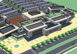 高新区创新创业园设计模型