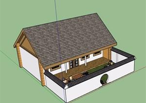 两层详细的中式民居住宅楼SU(草图大师)模型