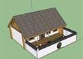 两层详细的中式民居住宅楼su模型