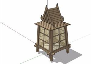 东南亚风格详细的灯饰素材设计SU(草图大师)模型