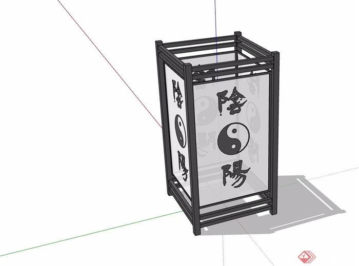 中式详细完整的灯饰素材设计su模型