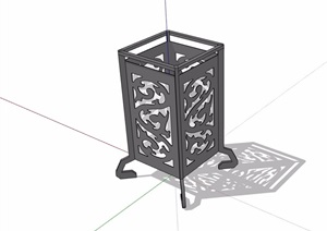 中式园林景观灯饰素材设计SU(草图大师)模型