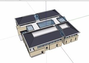 会议?#34892;?#21150;公多层建筑设计SU(草图大师)模型