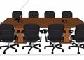 现代风格长形会议桌椅素材su模型