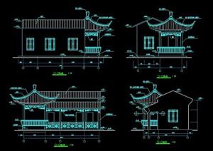 古典园林风格管理房建筑施工图