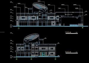 特色双层办公楼建筑设计施工图