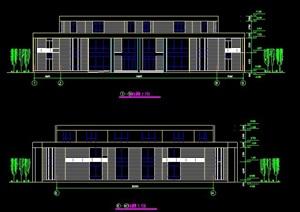 简约三层会所建筑设计图纸