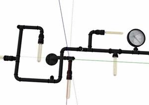 工业风吊灯、壁灯、风扇SU(草图大师)模型