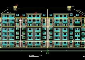 7层花园洋房住宅楼建筑施工图纸
