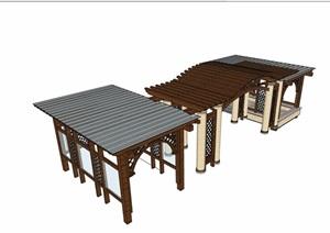 欧式详细的完整廊亭组合素材SU(草图大师)模型