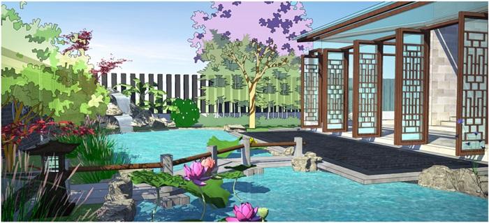 新中式庭院(4)
